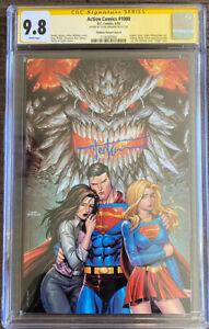 Action Comics #1000 CGC 9.8 Signed by Tyler Kirkham.  Kirkham Variant Cover B.