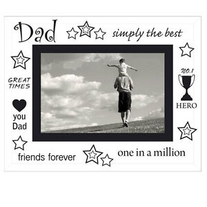 fathers day glass picture frame best dad in the world dad photo