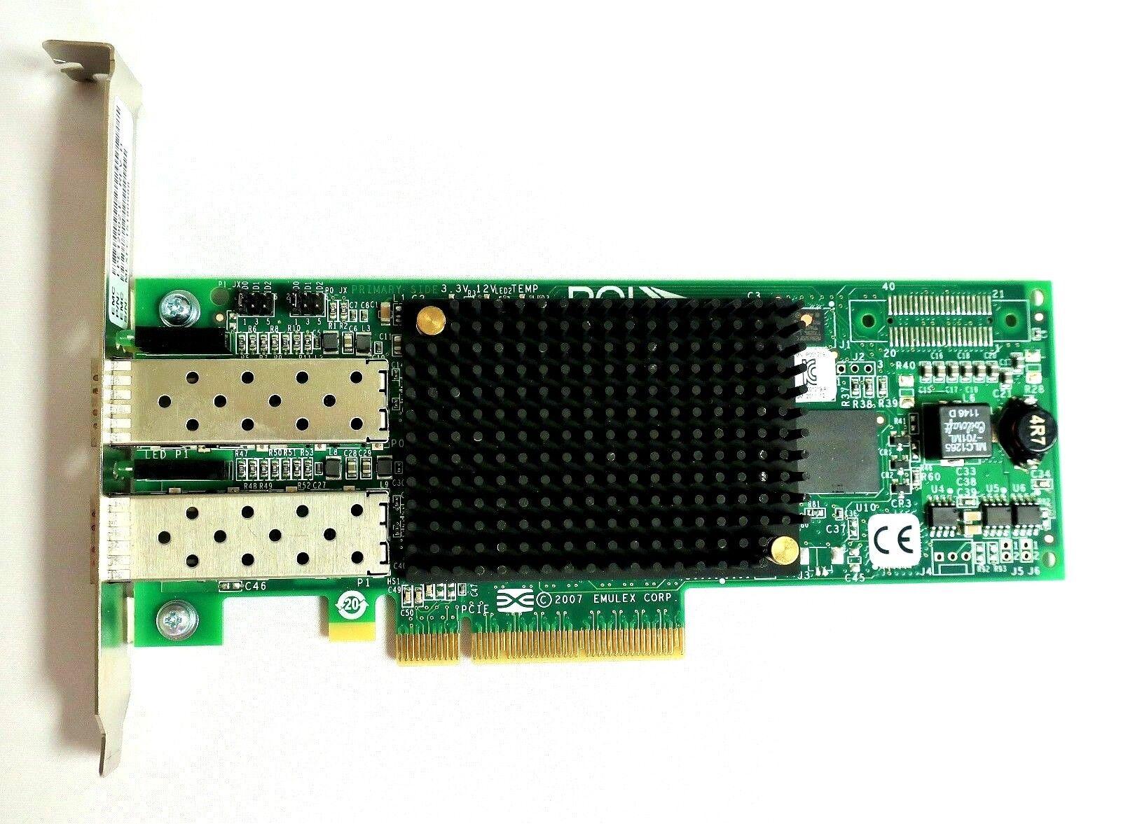 Emulex IBM 42D0500 LPE12002 8GB FC HBA 2 Port PCIe HP Dell Adapter Card High Pro