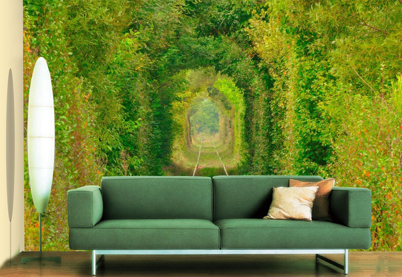 3D Grün Plant Aisle 7 Wall Paper Murals Wall Print Wall Wallpaper Mural AU Kyra
