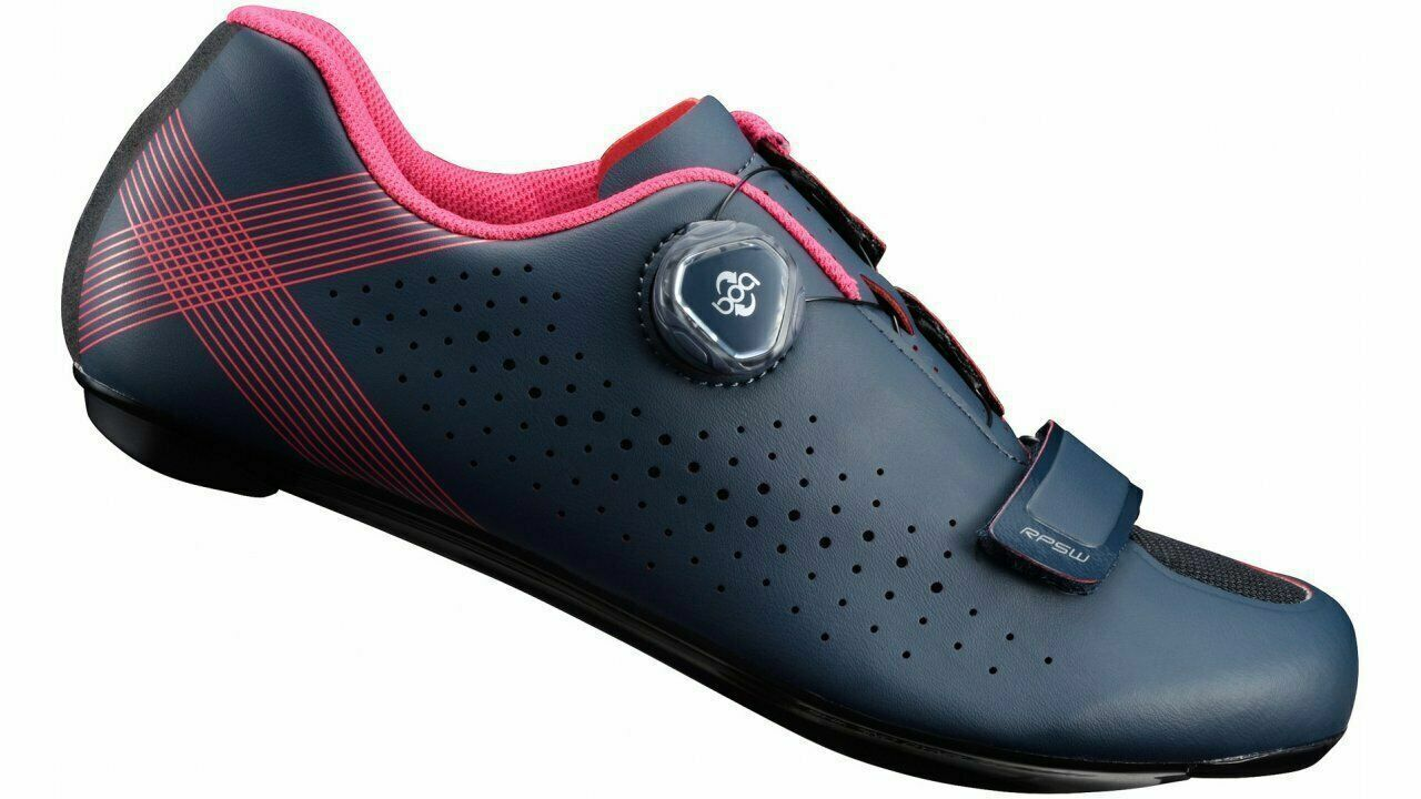 NEU Shimano SH-RP501 Radfahrer Frauen BOA Schuhe Marine Blau rot Größe 39EU, 7.2US