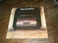 Ford Continental  Car 1984 Sales Brochure Ford