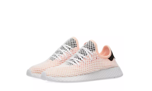 New Adidas Originals Deerupt Men's Running shoes White + Core Black B28075 Sz 9