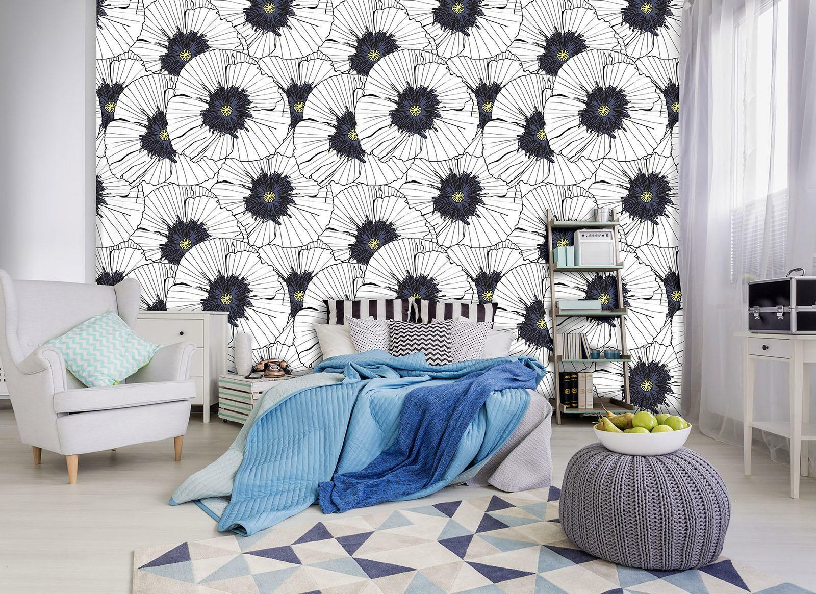 Photo Wallpaper Mural Non-woven 10748_VEN Floral Pattern nature flowers floral g
