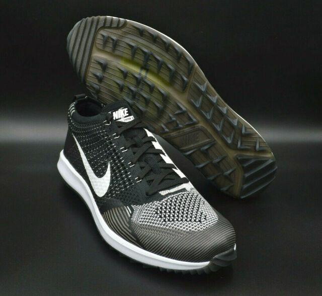 929d61901a728 Nike Flyknit Racer G Golf Oreo Black White Mens Cleats  909756-001  Multi