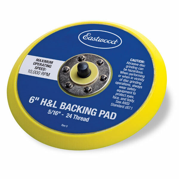 Eastwood 6 inch Hook And Loop Backing Pad For Orbital Sander Polisher 10 000 RPM. Buy it now for 14.99