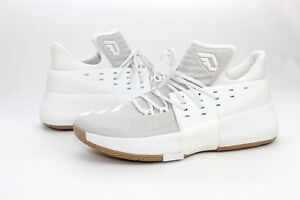 new style 5cb2f 86be2 Image is loading Adidas-Damian-Lillard-Dame-3-White-Gum-BW0323-
