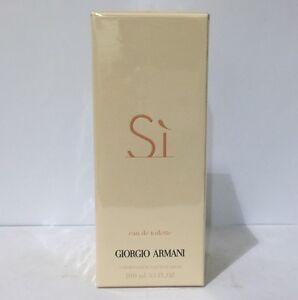 Armani-Si-By-Giorgio-Armani-3-3-3-4-Oz-Eau-De-Toilette-Sp-NIB-Sealed-For-Women