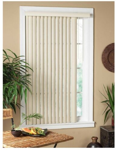 New Vertical Alabaster Textured Window Blind Provides Privacy For Convenience