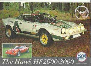Details About Hawk Cars Ltd Hawk Hf2000 3000 Kit Car Lancia Stratos Copy Brochure Sheet 1990s