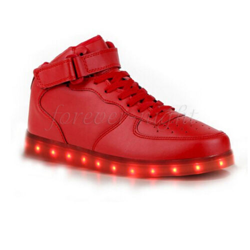 High Colorful LED Light Lace Up Luminous Shoes Sportswear Sneaker  Casual Unisex