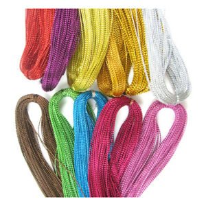 100yds-1mm-METALLIC-CORD-STRING-CRAFTS-JEWELLERY-MAKING-GIFTS-BRACELET-WRAPPING