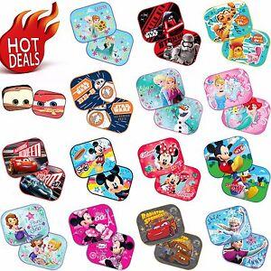 2-x-Disney-Car-44x35cm-UV-Sun-Shade-Baby-Children-Kids-Window-Visor-FROZEN-CARS
