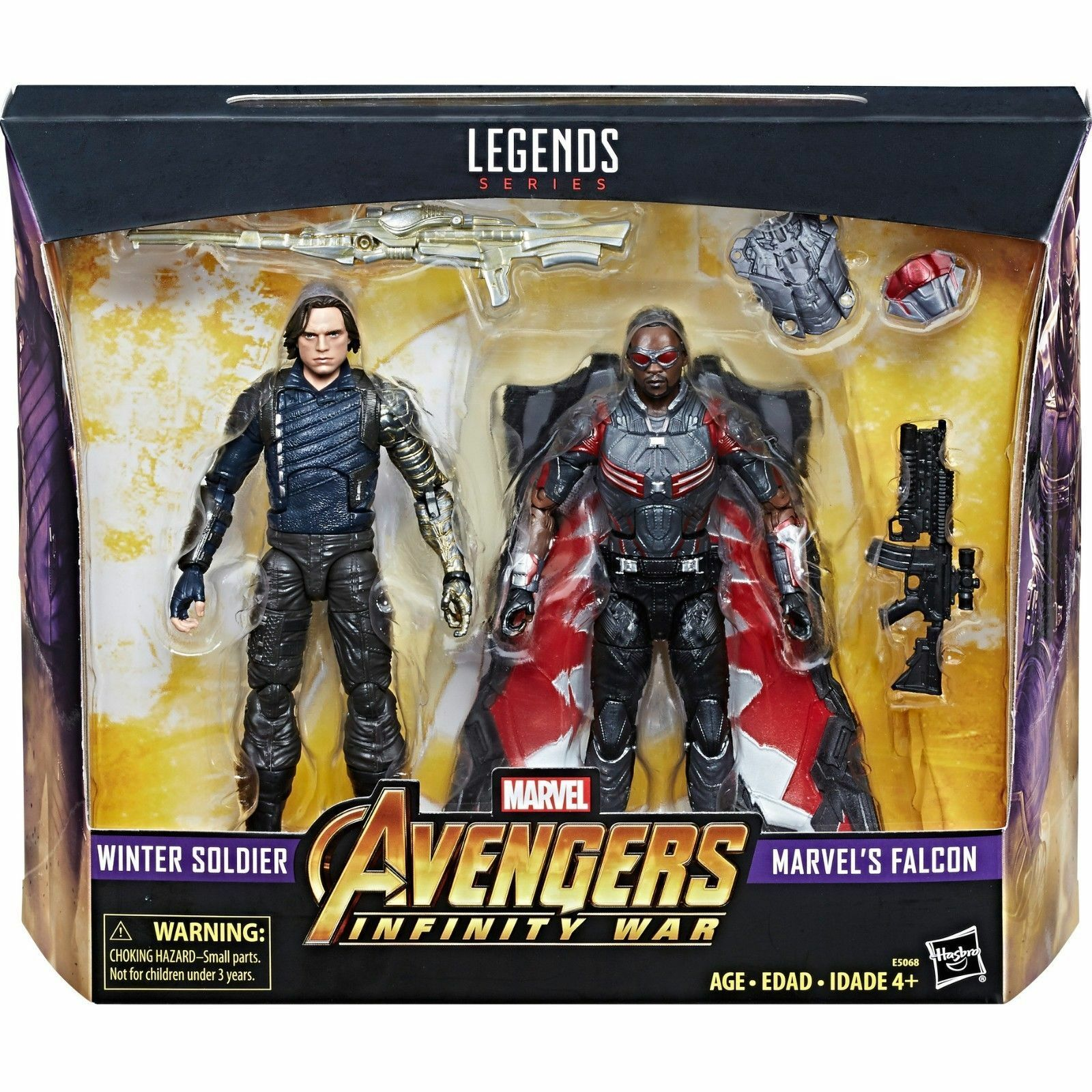 In-Hand  MARVEL LEGENDS Avengers 3 Infinity GUERRA SOLDATO D'INVERNO Falcon Set UK
