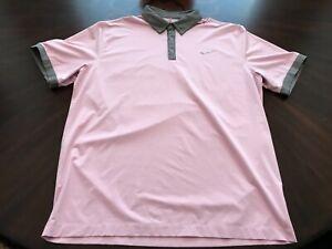 Nike-Dri-Fit-Pink-Logo-Golf-Shirt-Size-XL