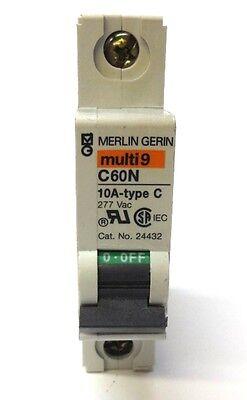 Square D Merlin Gerin 24432 10Amp 1Pole C60N Circuit Breaker MG24432