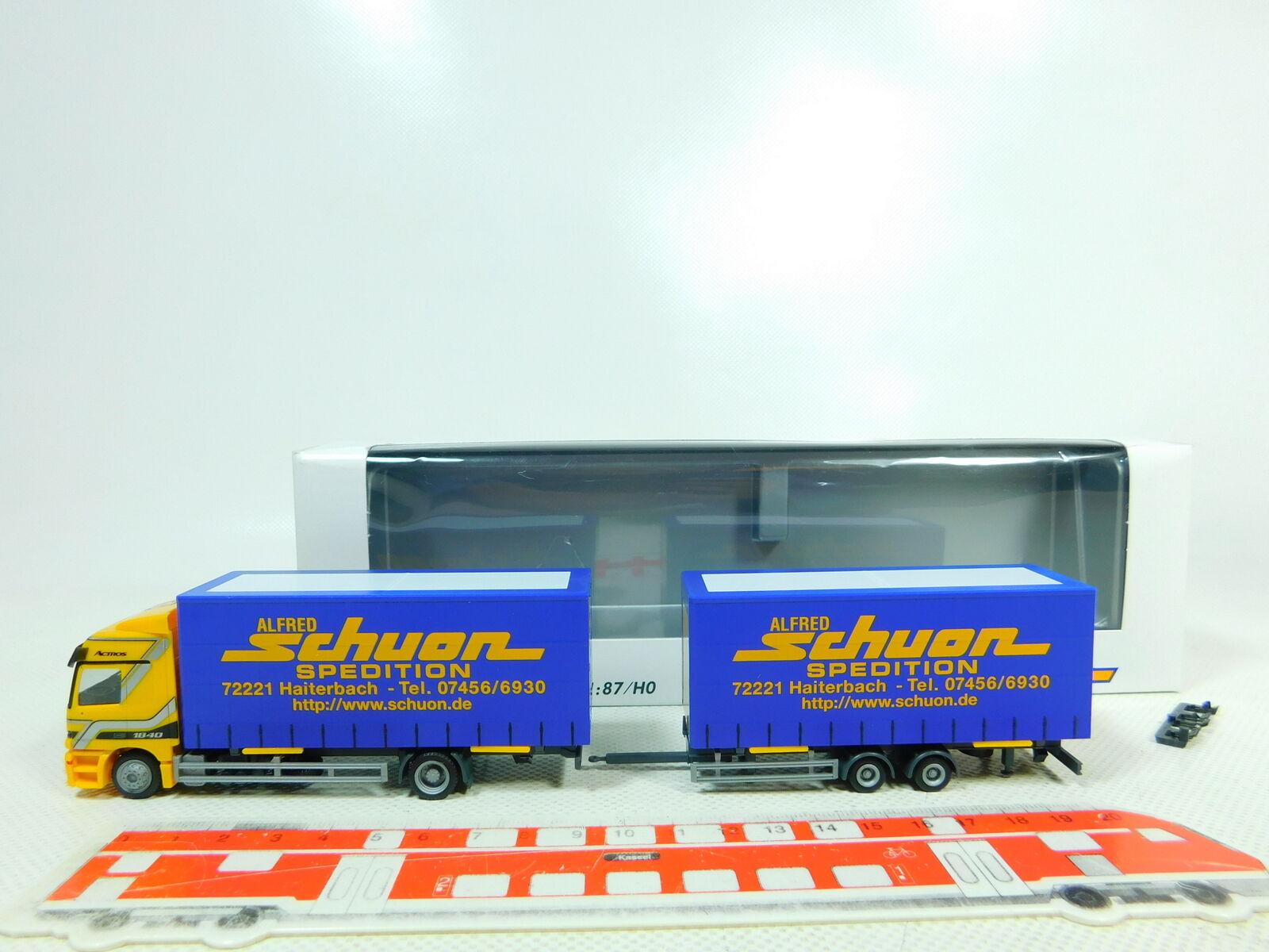 Bt412-0, 5  Herpa h0 1 87 Camion Camion Mercedes Mb Schuon transporteur, Neuw  neuf dans sa boîte