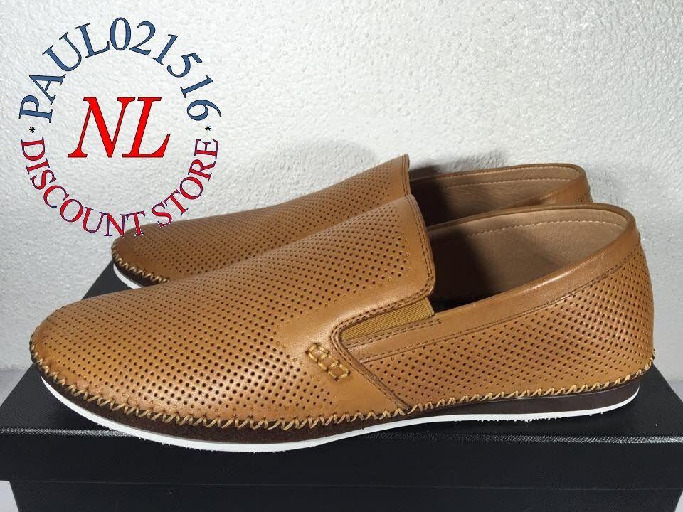 Zanzara Men's Merz Cognac Slip-on Loafers  Brown  Various Sizes  Condition