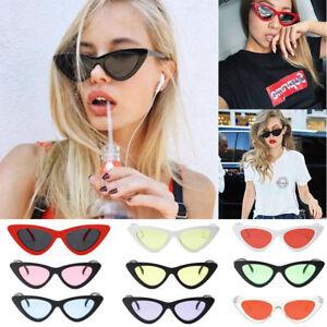 Womens-Fashion-Vintage-Retro-Cat-Eye-Triangle-Sunglasses-UV400-Eyewear-Glasses