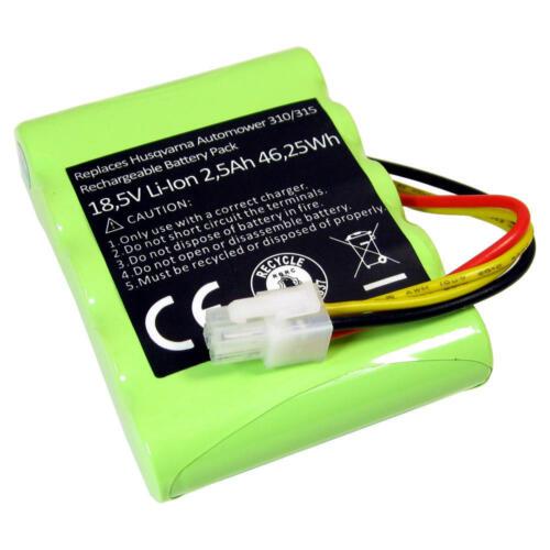 AKKU 18,5V 2500mAh Li-Ion für Husqvarna Auto Mower 310 315 ersetzt 584852801