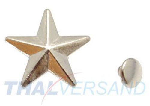 100 unidades estrella remaches decorativos 19mm #62 motivo tachuelas cuero con tachuelas zierniete motivniete