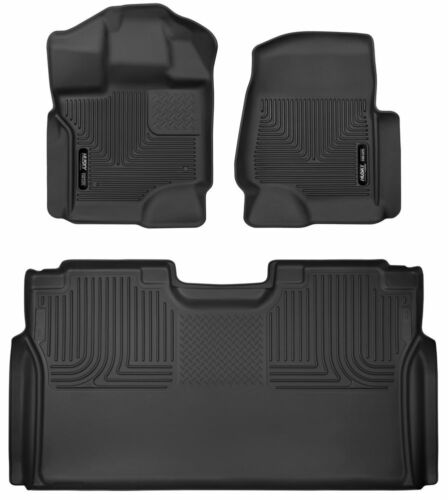 Husky Liners 53498 X-act Contour Floor Liners For 2015-2019 Ford F-150 SuperCrew