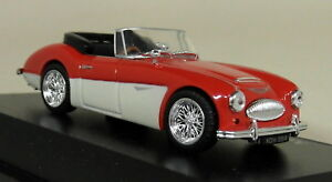 Atlas-1-43-Scale-Austin-Healey-3000-Mk3-Red-White-Diecast-Model-Car