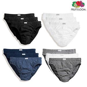 75e235509101 Fruit of The Loom Classic Slip 3-Pack -Men's Plain/Stripe Underwear ...
