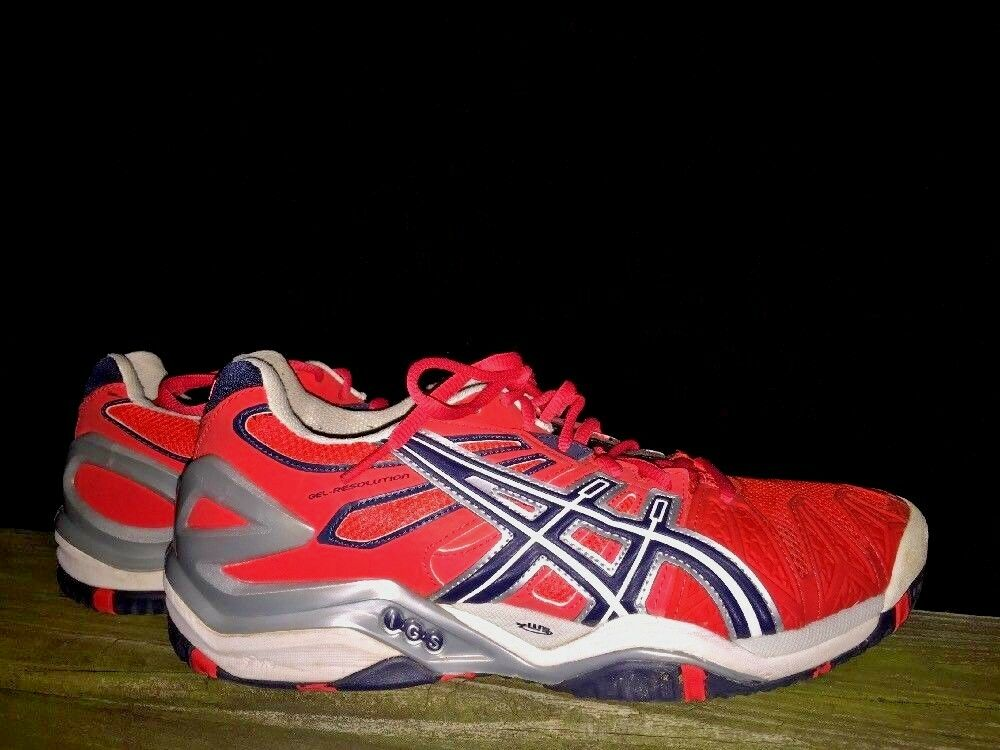 ASICS GEL RESOLUTION 7 Nearly New Running Walking RED NAVY NAVY NAVY Womens shoes Size 8.5 94626f