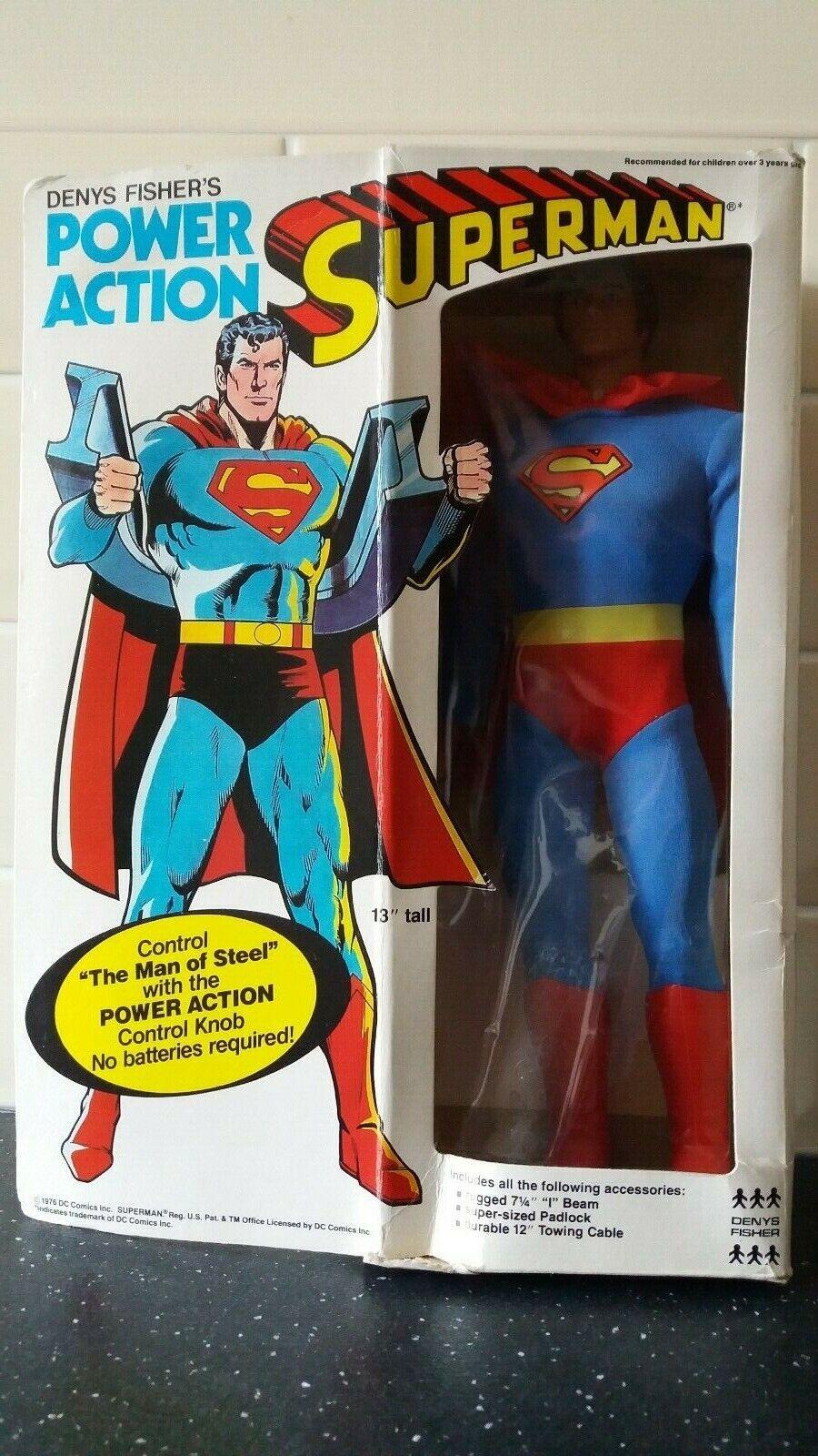 Denys fisher's power action superman vintage figure