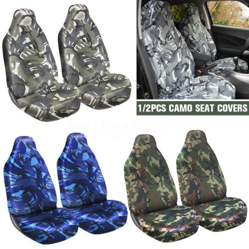 Universal Camo Car Van Front Seat Covers Heavy Duty Waterproof Green Accessories