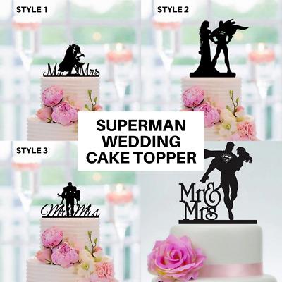 Superman And Wonderwoman Wedding Cake Topper Superhero Party