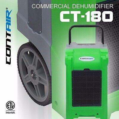 Contair® CT-180 XL Commercial Grade Dehumidifier Humidity Control ETL Green