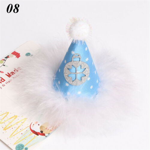 Mini Girls Christmas Hat Hairpin Hair Clip New Year Xmas Party Accessories