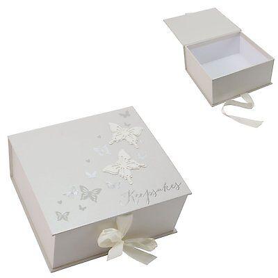 Wings Of Love Butterfly Wedding Memory Keepsake Box ~ Wedding Day Memories ~