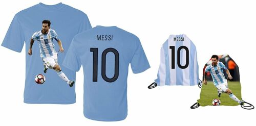 Messi Jersey Style T-shirt Kids Argentina Lionel Messi Jersey T-shirt Gift...