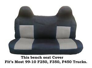 Phenomenal Details About Black Gray Mesh Fabric Bench Seat Cover Fit Ford F 250 F 350 F 450 99 08 Trucks Ibusinesslaw Wood Chair Design Ideas Ibusinesslaworg