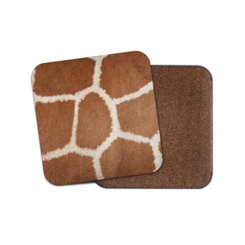 Girafe Imprimé Coaster-Patches Animal Sauvage Zoo Afrique Filles Cool Cadeau #14868