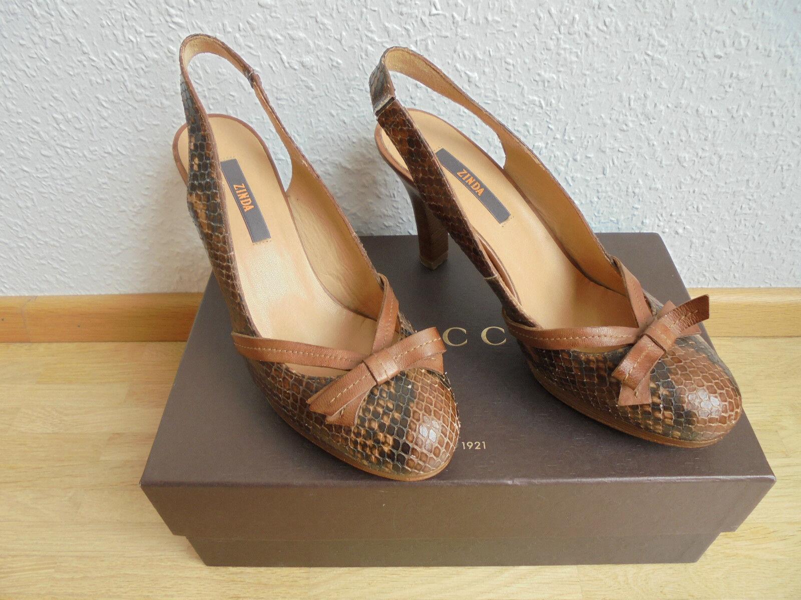 Zinda Designer Leder Pumps NP:  High Heels Schuhe Gr. 38