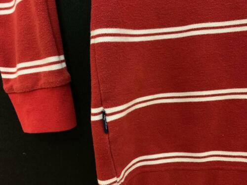 VTG Karl Kani Gold Long Sleeve Polo Striped HipHop Size XXXL