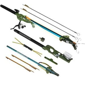 Multi function shooting fly fishing rod reel arrows for Shooting fishing rod