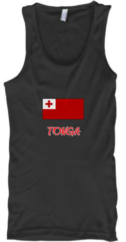 Tonga Flag Artistic Red Design Male Tank Top