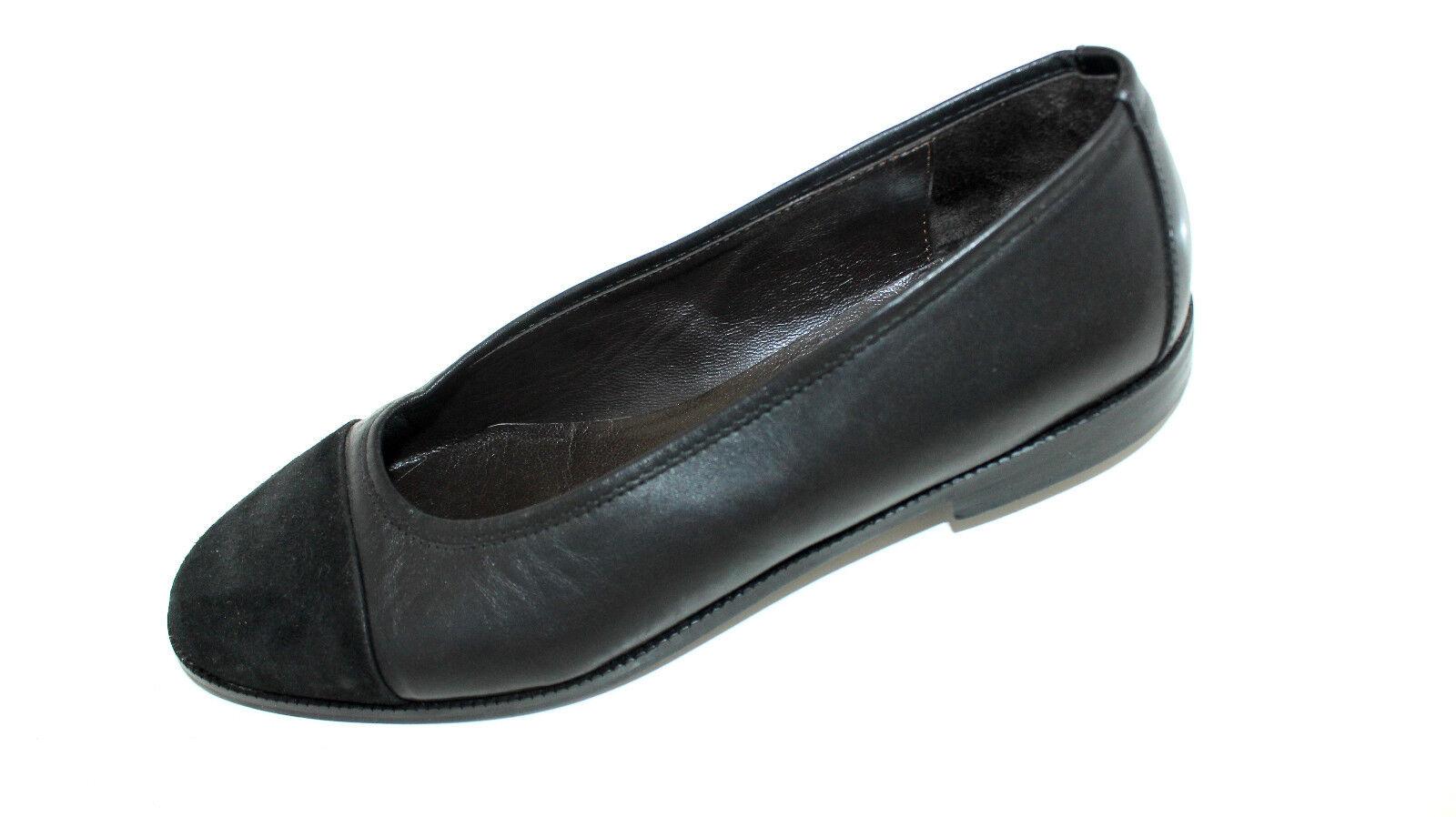 Ricardo Cartillone Ballerines Ballerines Ballerines Slipper à moitié chaussures 39 UK 5 Noir Cuir Doux 1fa910