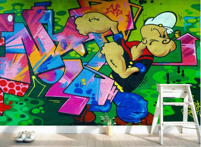 3D Popeye cartoon 473 Paper Wall Print Decal Wall Wall Murals AJ WALLPAPER GB