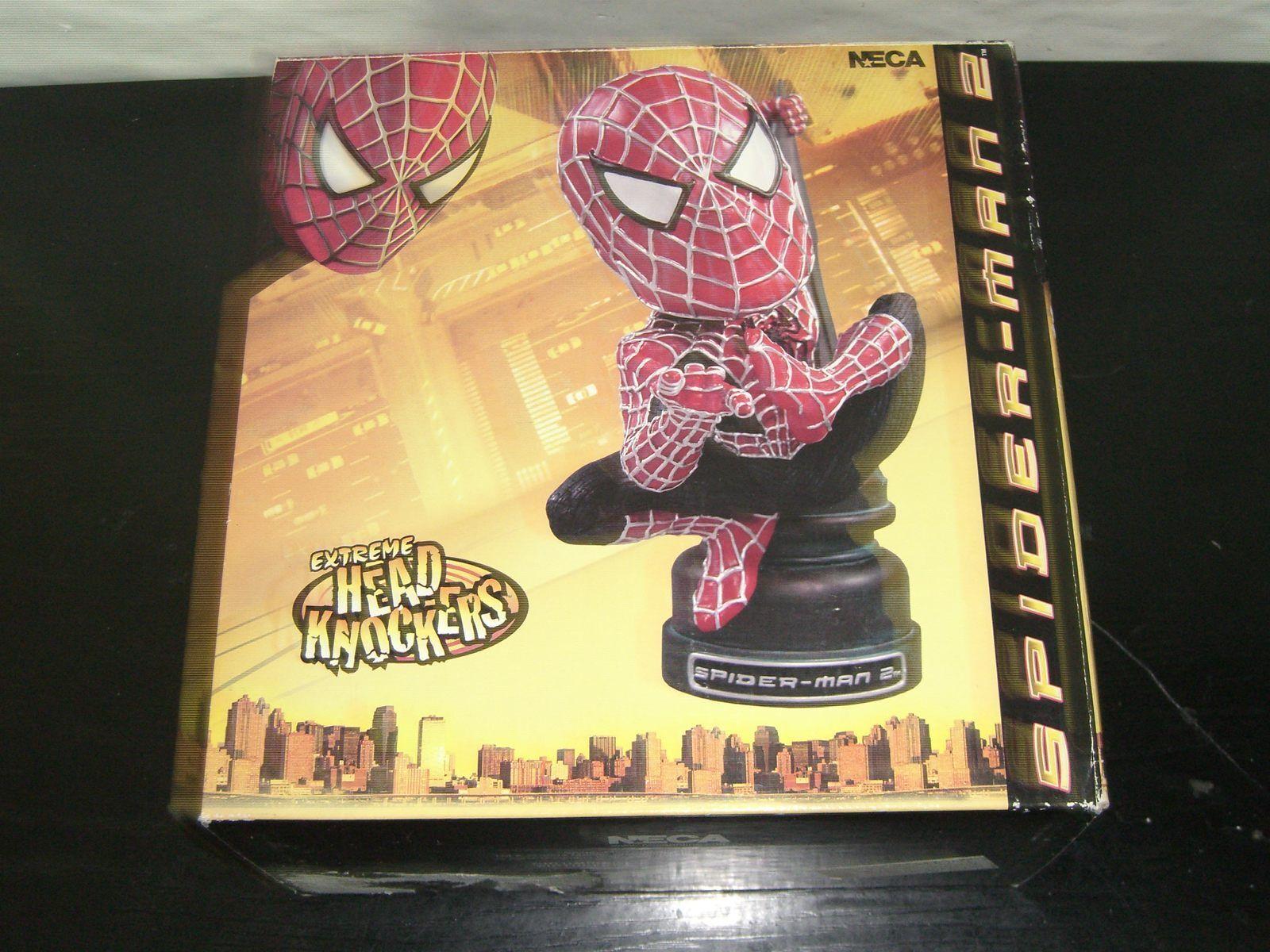 NECA Hombre Araña 2 película Extreme Cabeza Aldaba Headknocker Bobble Menta en caja