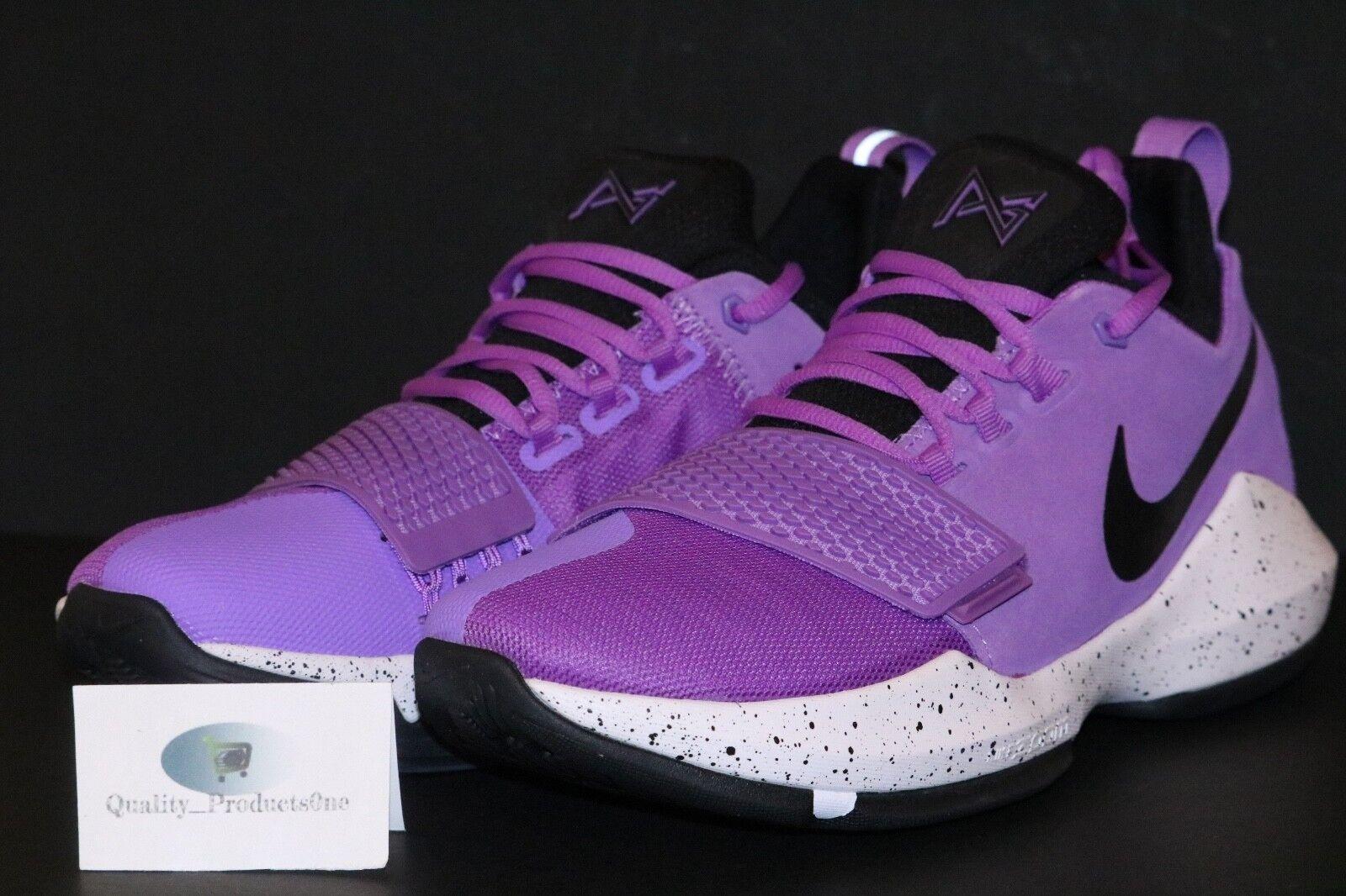 Nike Men's PG 1 Bright Violet Purple Black White Paul George 878627 500 Sz 9-15