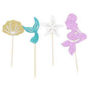 24pcs-Mermaid-Theme-Glitter-Cupcake-Topper-Baby-Shower-Birthday-Party-Favors-S
