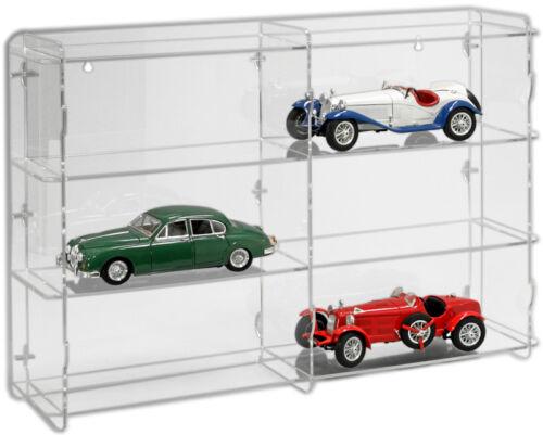 SORA Modellautovitrine 1:18 mit transparenter Rückwand für 6 Modellautos