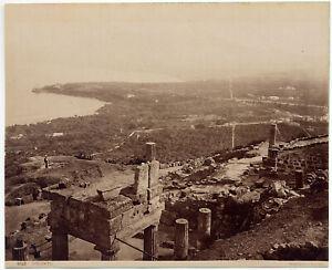 Solunto Palermo Panorama Foto originale Albumina Giorgio Sommer 1890c L882