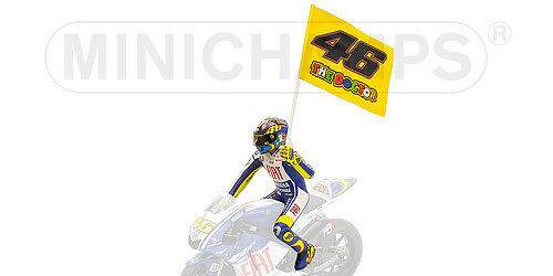 1 12 Minichamps Valentino Rossi Figure Figurine Misano Moto GP 2009 RARE NEW
